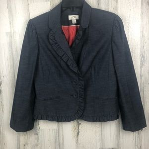 LOFT JACKET VINTAGE DENIM LOOK SIZE 6